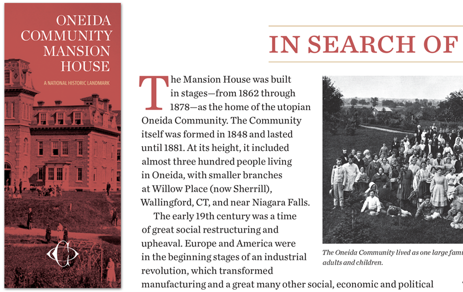 Oneida Community Mansion House brochure