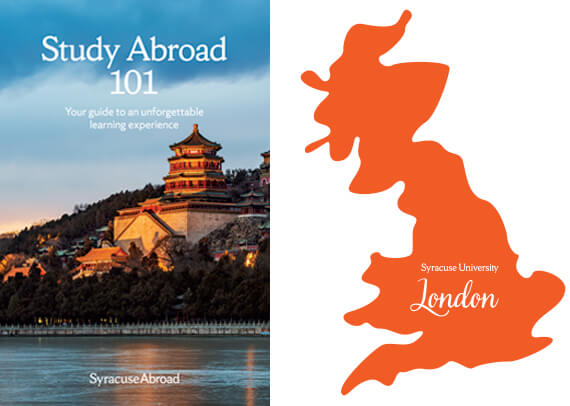 Syracuse Abroad brochure and decal