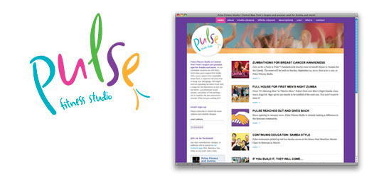 Pulse Fitness Studio brand and website design