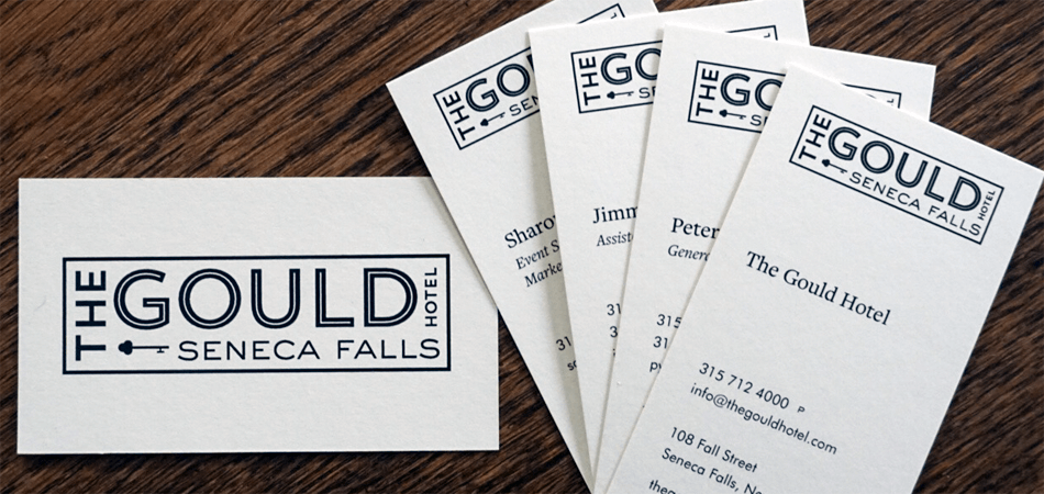 The Gould business cards
