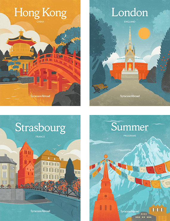 Syracuse Abroad Hong Kong, London, Strasbourg, and Summer covers