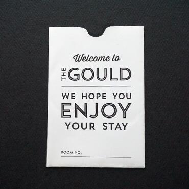 The Gould Hotel key sleeve